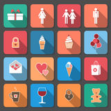Valentine-pictogrammen Stock Afbeelding