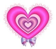 Valentine Pillow Heart Immagini Stock Libere da Diritti