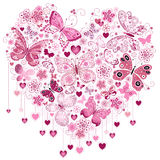 Valentine pink big heart Stock Images