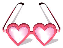 Valentine pink glasses Royalty Free Stock Image