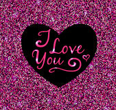 Valentine pink glittering background Royalty Free Stock Photos