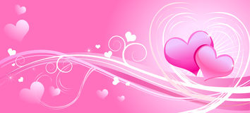 Valentine pink greeting card Stock Images