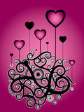 Valentine pink illustration Royalty Free Stock Photo