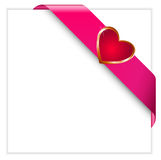Valentine pink ribbon Royalty Free Stock Photo