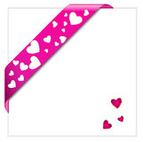 Valentine pink ribbon Royalty Free Stock Images