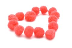 Valentine Pompom Heart Royalty Free Stock Photo