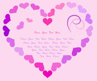 Valentine post card. Place for text. Stock Photos