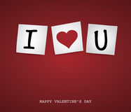 Valentine Post-it Stock Images