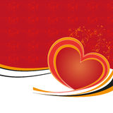Valentine postcard. With red heart, vector Stock Photos