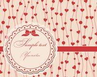 Valentine postcard Royalty Free Stock Photography