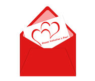 Valentine postcard Stock Photography