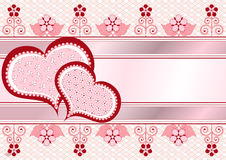 Valentine postcard_frame Stock Photography