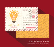 Valentine postcard Invitation design Template Vector Stock Photography