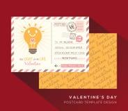 Valentine postcard Invitation design Template Vector Stock Photography