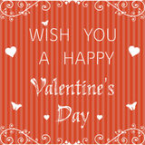 Valentine postcard Stock Photography