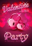 Valentine poster. Valentine background Royalty Free Stock Image