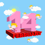 Valentine pour le jour de valentines Carte postale, affiche pour tous les amants 3 Images libres de droits