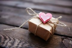 Valentine present Stock Images