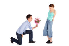 Valentine Proposal Stock Photography