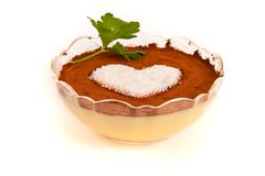 Valentine pudding Stock Photo