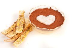 Valentine pudding Royalty Free Stock Image