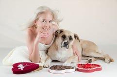 Valentine Puppy Love Stock Image