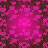 Valentine purple frame Royalty Free Stock Image