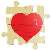 Valentine puzzle Royalty Free Stock Images