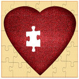 Valentine puzzle - missing piece to my heart, concept Royalty Free Stock Photography