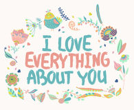 Valentine quote background Stock Images
