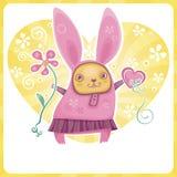 Valentine rabbit Stock Photography