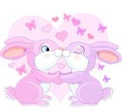 Valentine rabbits Stock Image