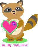 Valentine Raccoon Royalty Free Stock Photo