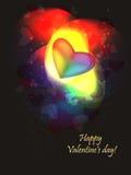 Valentine rainbow. Festive valentine background, with shining hearts Stock Photos