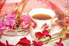 Valentine raspberry tee Royalty Free Stock Photo