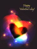 Valentine reactor. Festive valentine background, with shining heart patterns Stock Images