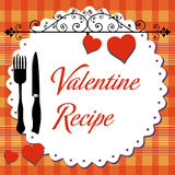 Valentine recipe Stock Images