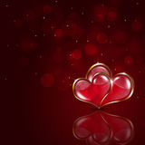 Valentine Red Background Stockbild