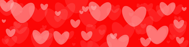 Valentine Red Background Illustration Libre de Droits