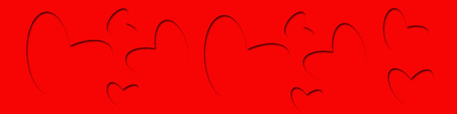 Valentine Red Background Illustration Stock