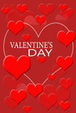 Valentine Red Background Images libres de droits