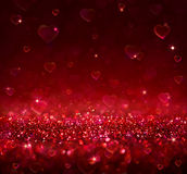 Valentine red background Stock Image