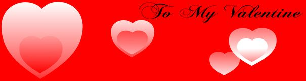 Valentine red banner vector Royalty Free Stock Photo