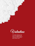 Valentine red card with white hearts Royalty Free Stock Photo