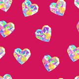 Valentine red diamond seamless vector pattern Royalty Free Stock Image
