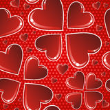 Valentine red glossy heart pattern Royalty Free Stock Photos