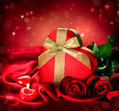 Valentine Red Hear Gift Royalty Free Stock Images