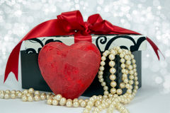 Valentine red heart. Royalty Free Stock Image