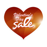 Valentine red heart banner Royalty Free Stock Image