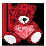Valentine, Red, Heart, Bear, Smile Stock Photos